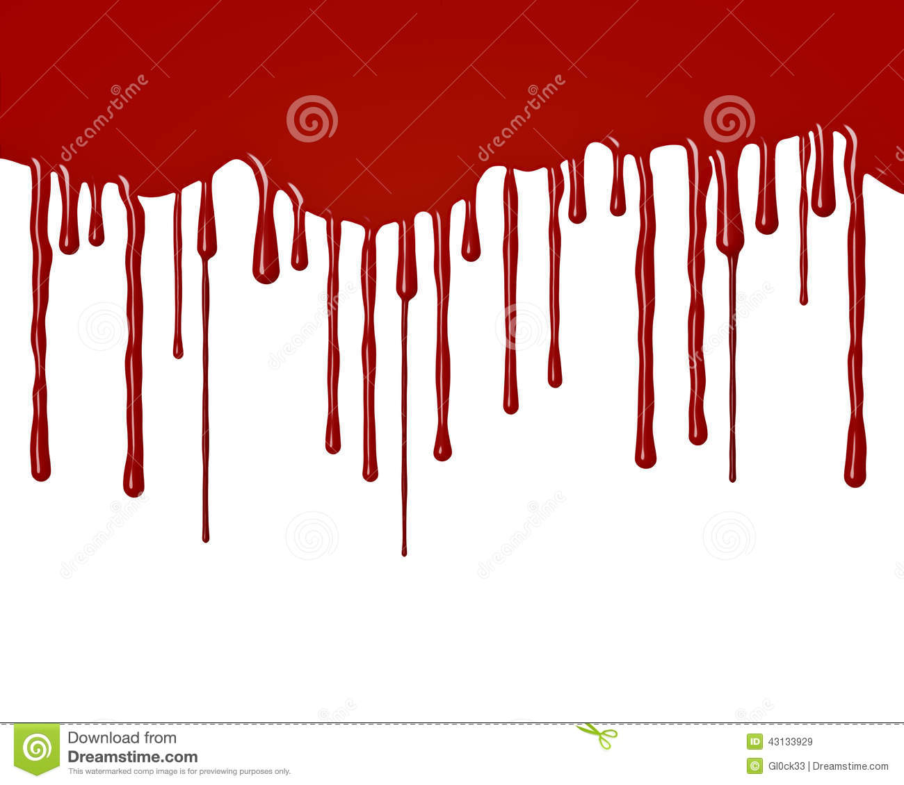 Drops of blood flowing down stock illustration image 43133929