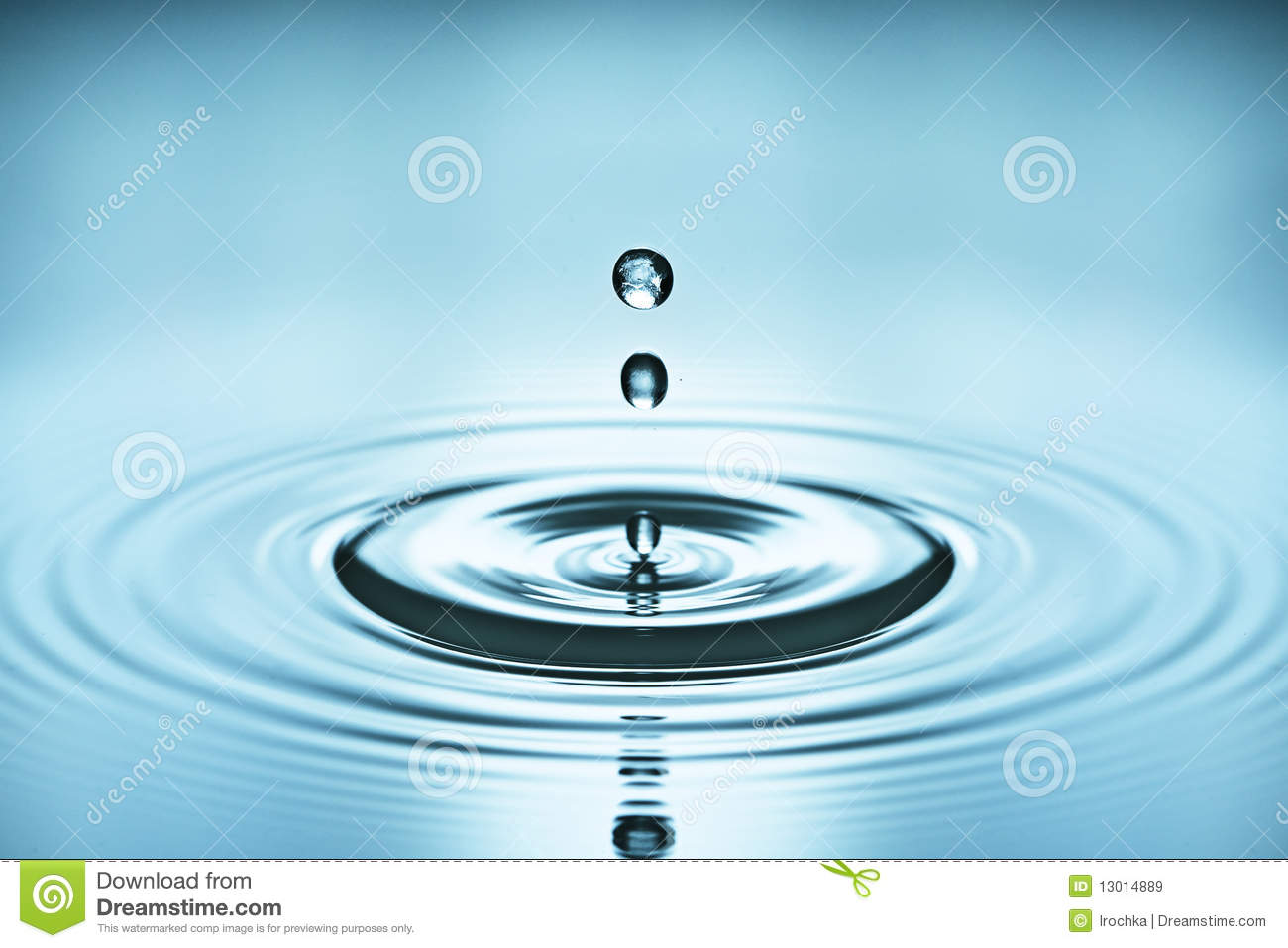 Drops of water causing ripples
