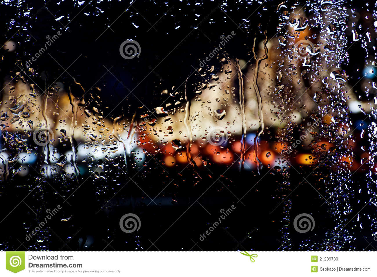 Drops Of Water On Glass Stock Photo - Image: 21289730