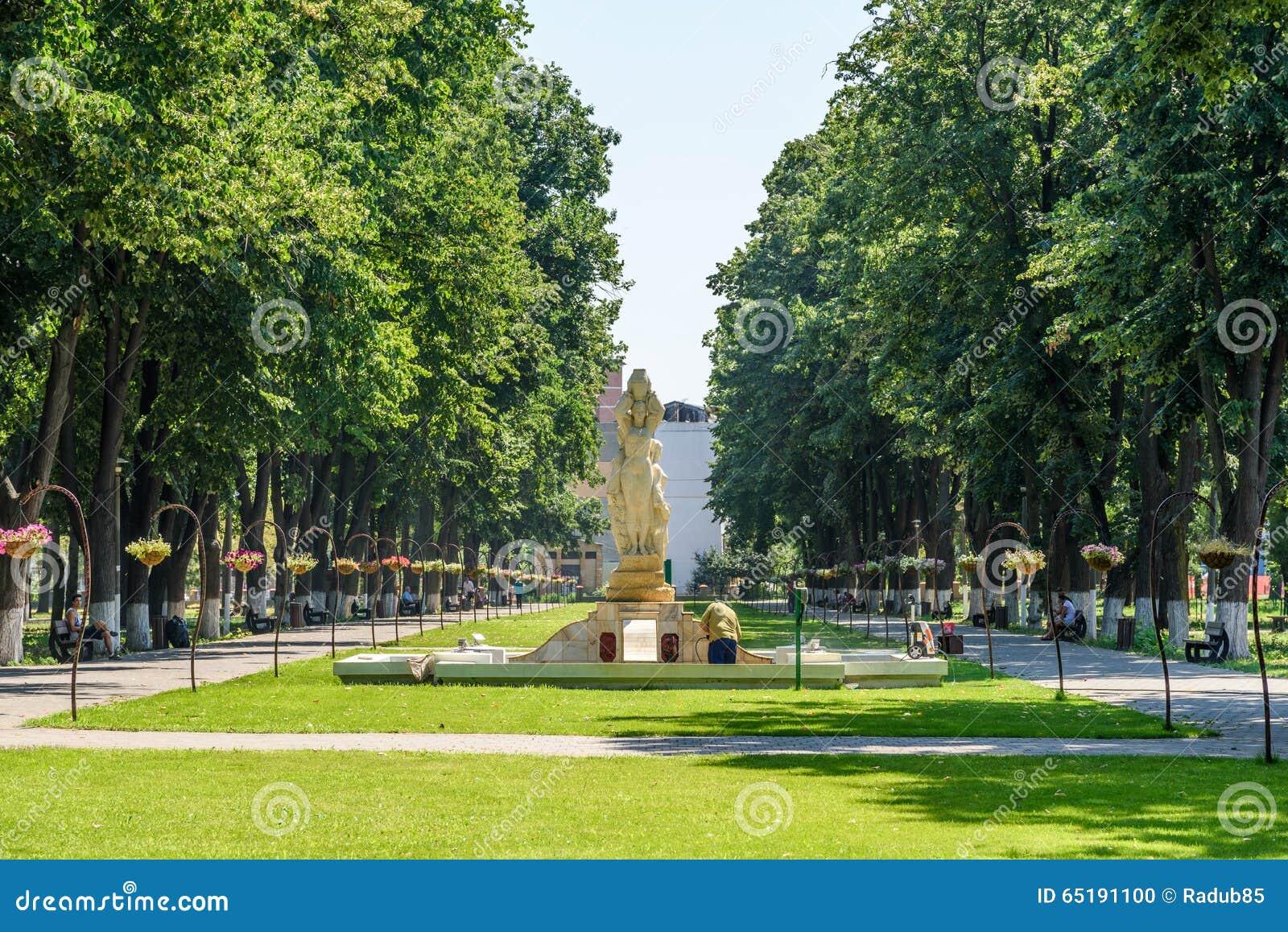 Drottning Elizabeth Park Is One Of som det största offentligt parkerar av den Tecuci staden