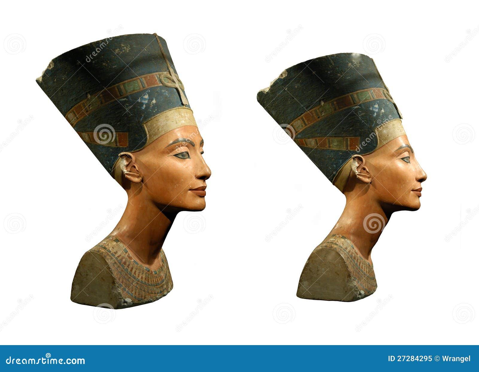 Drottning Nefertiti som isoleras på White