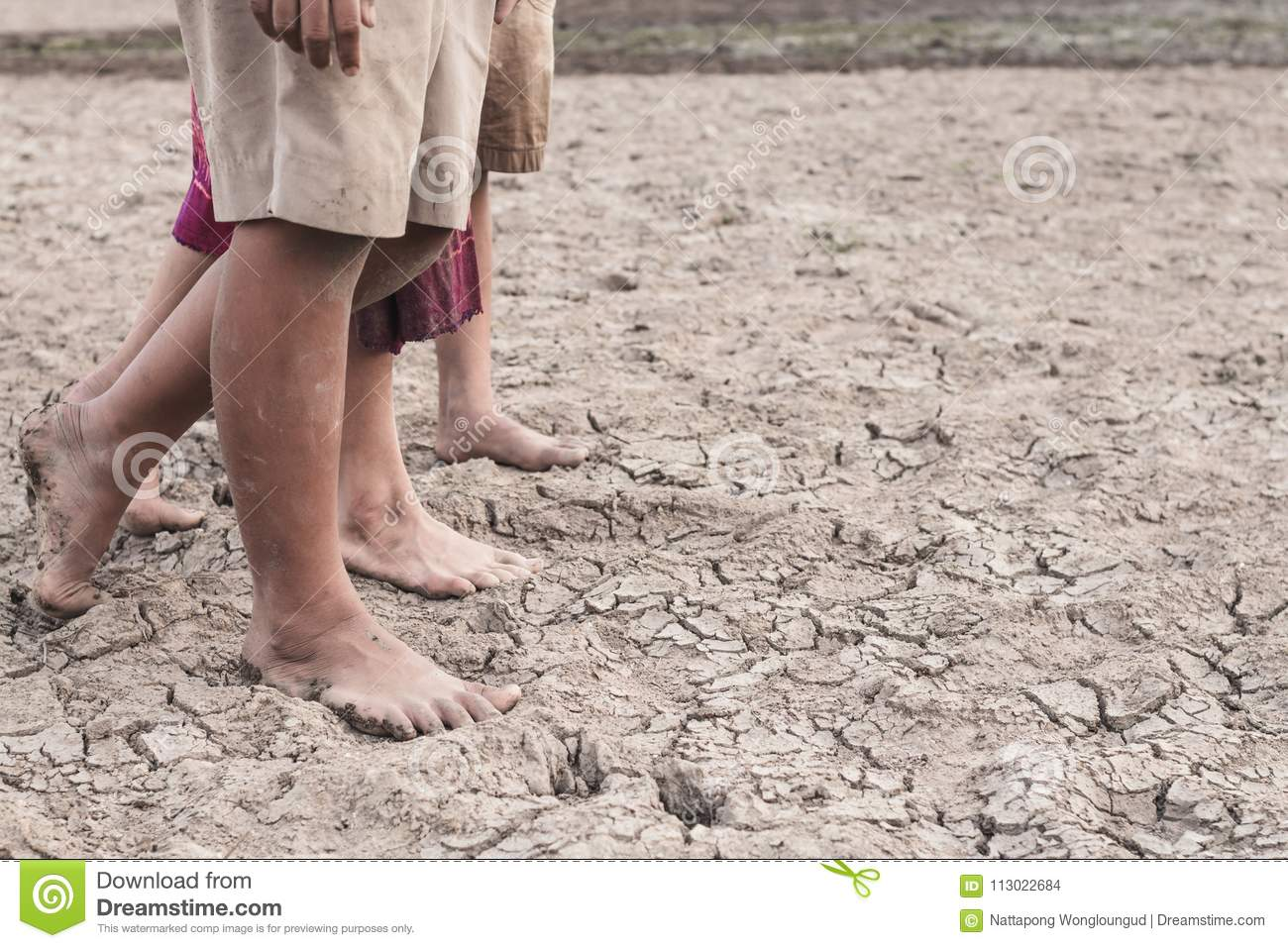 Drought caused by water shortage.