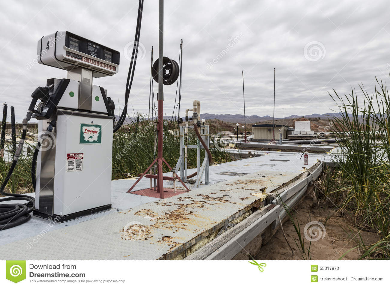 Drought Damage At Lake Mead Echo Bay Marina Editorial Stock Photo ...