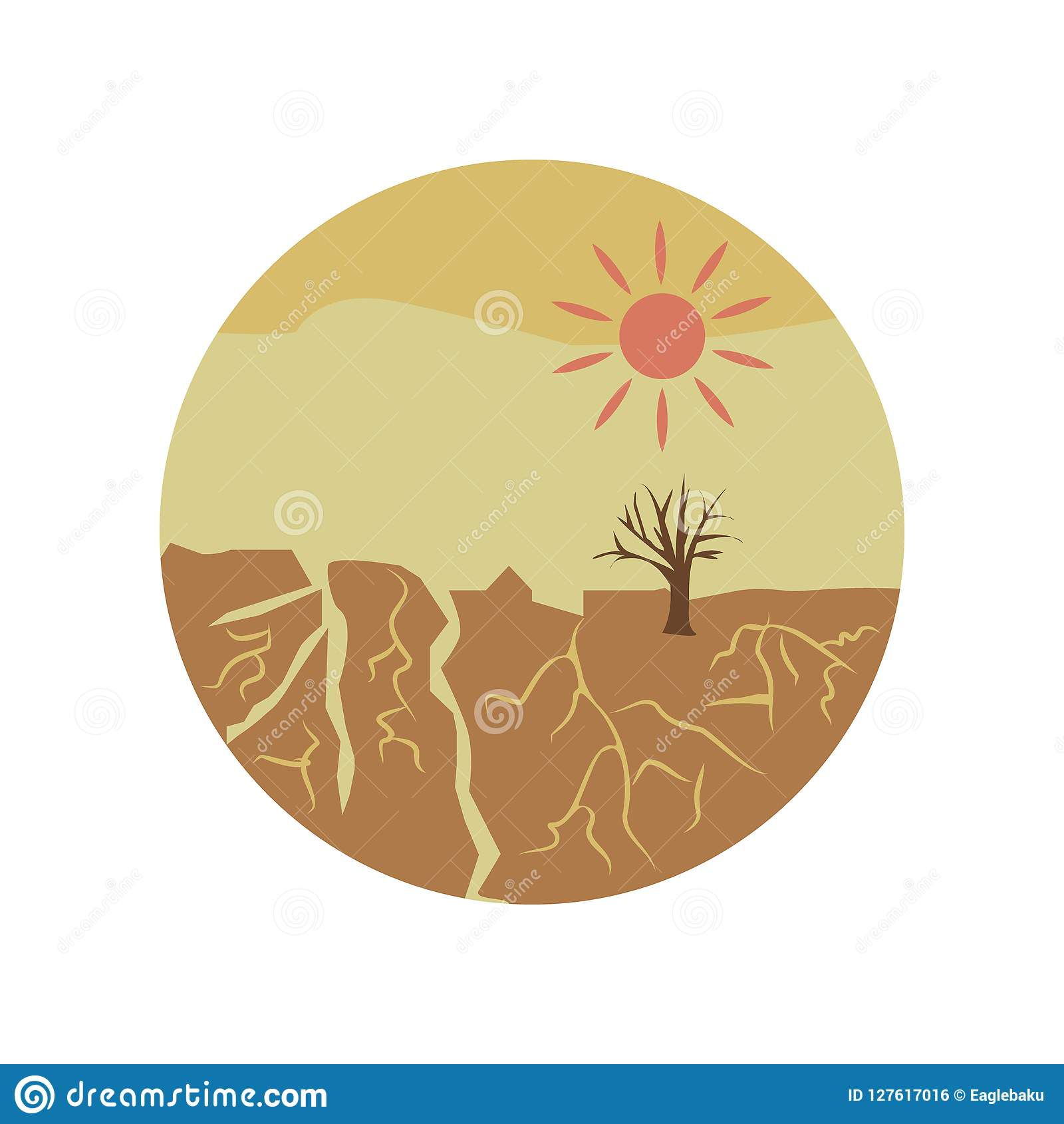 drought disaster color icon. Element of global warming illustration. Premium quality graphic design icon. Signs and symbols collec