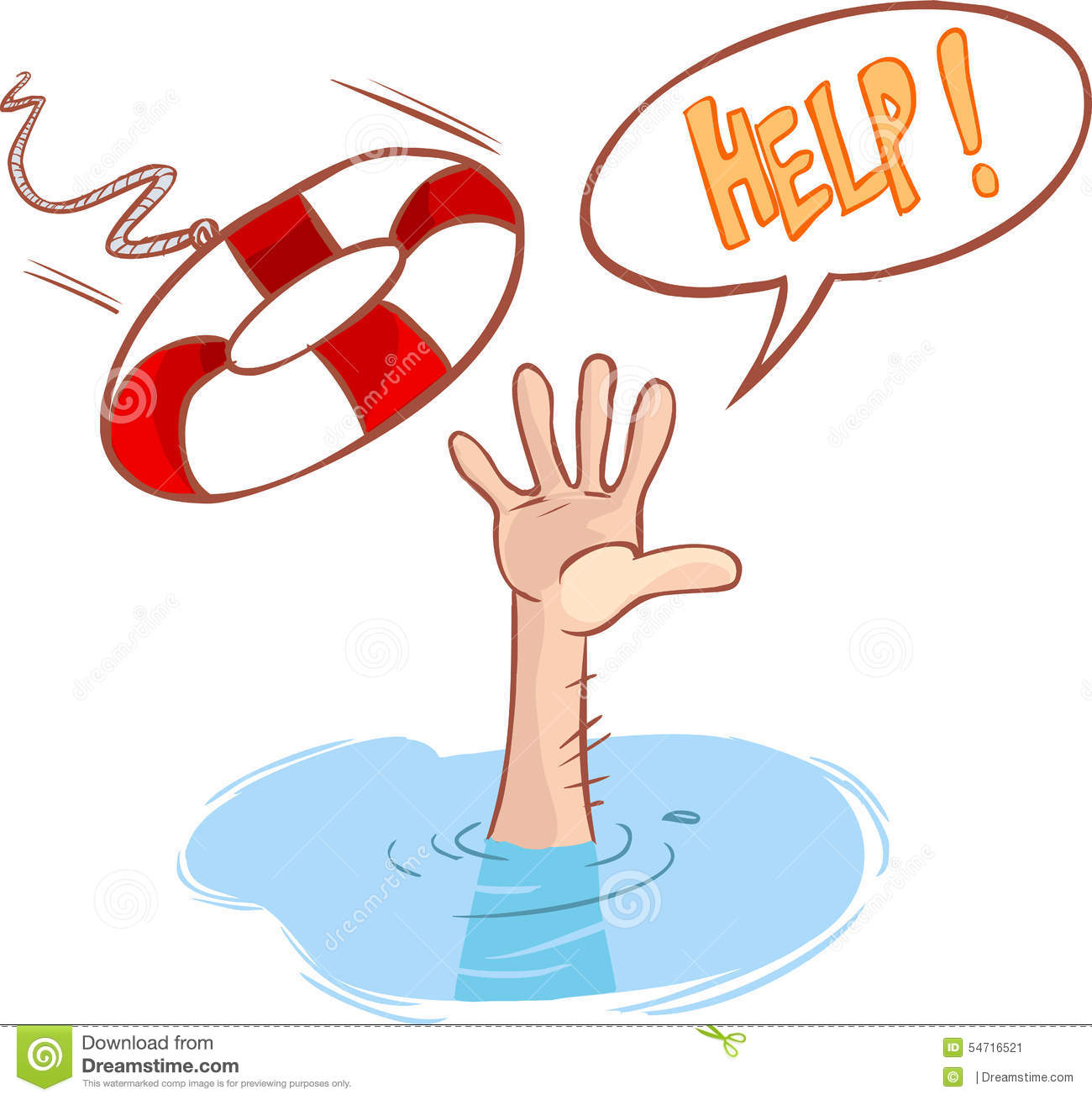 Clipart Drowning Man
