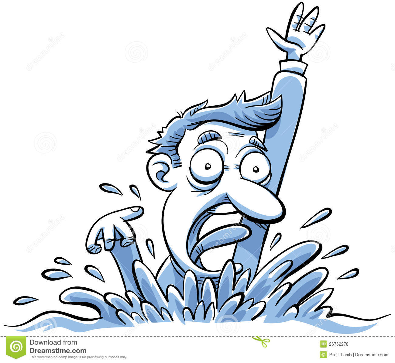 Image result for free clip art of drowning man
