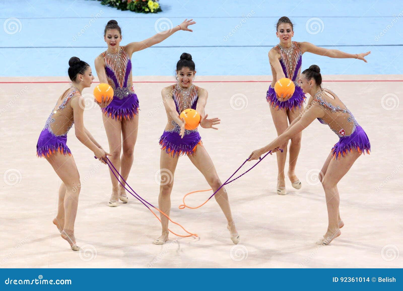 Drużynowe Szwajcaria Rytmiczne gimnastyki