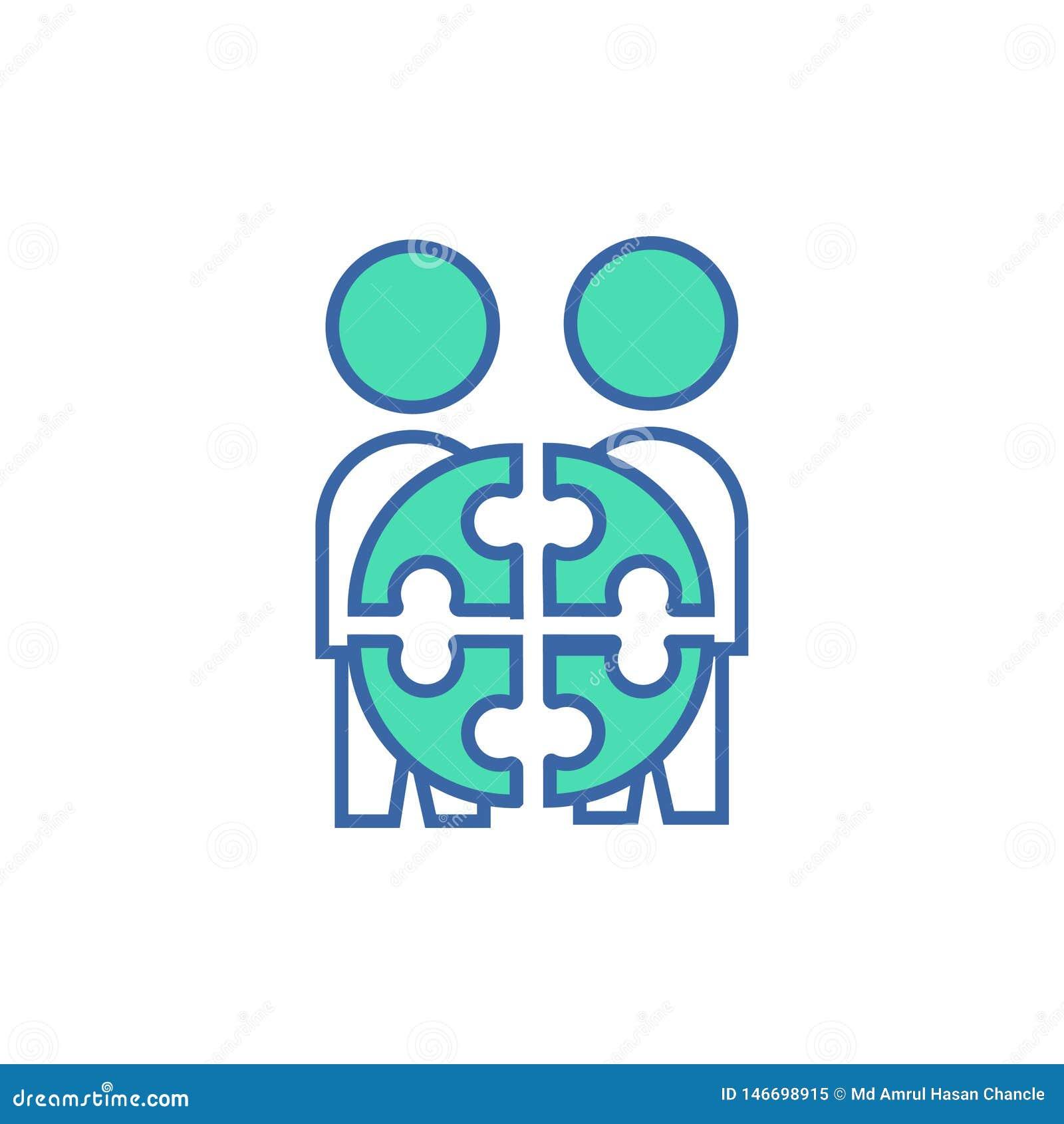 Dru?ynowa projekt ikona wektorowy planu i diagrama symbol mieszkanie drużyny projekta ikona