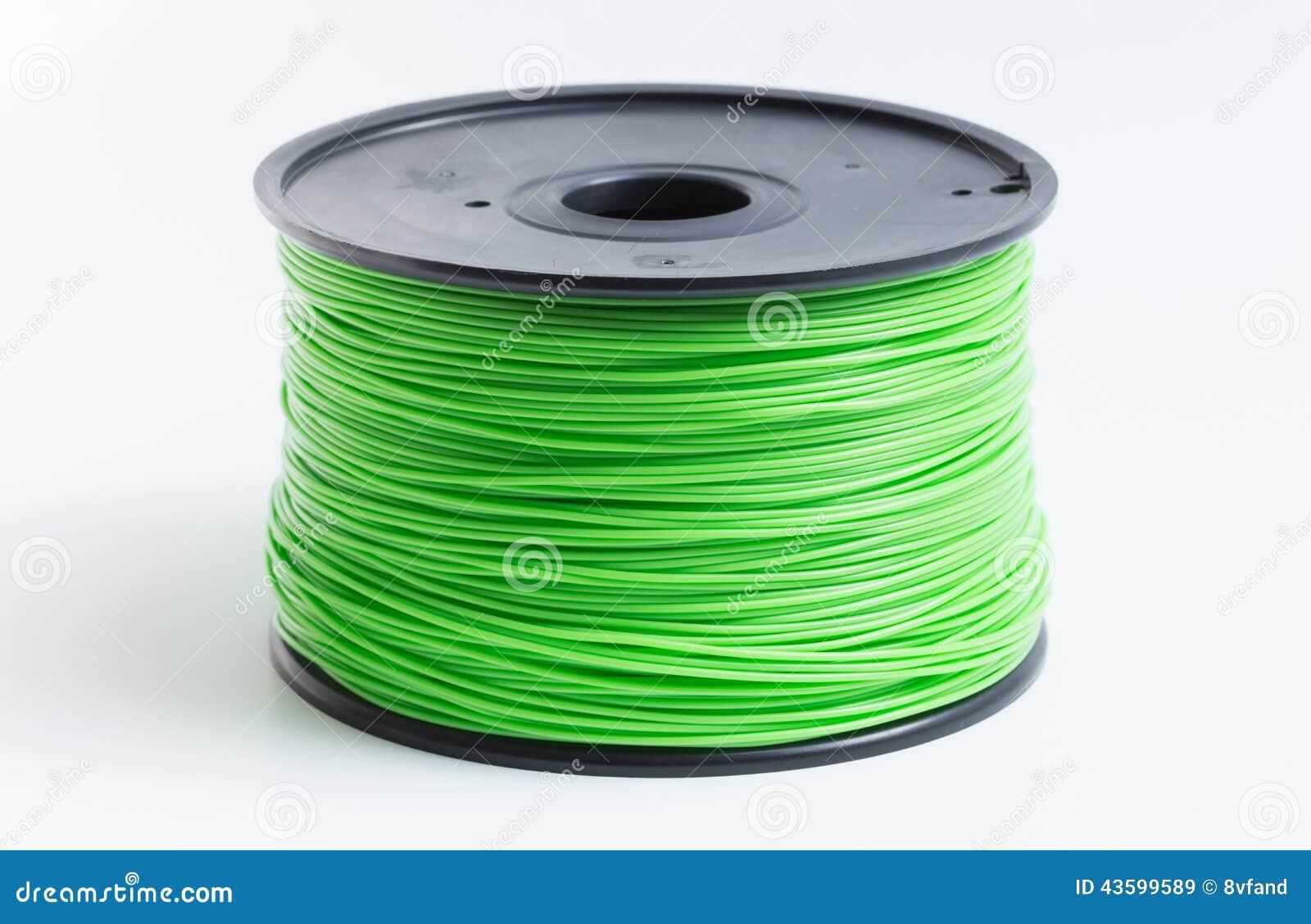 Drucik dla 3D drukarki w jasnozielonym przeciw jaskrawemu backgrou