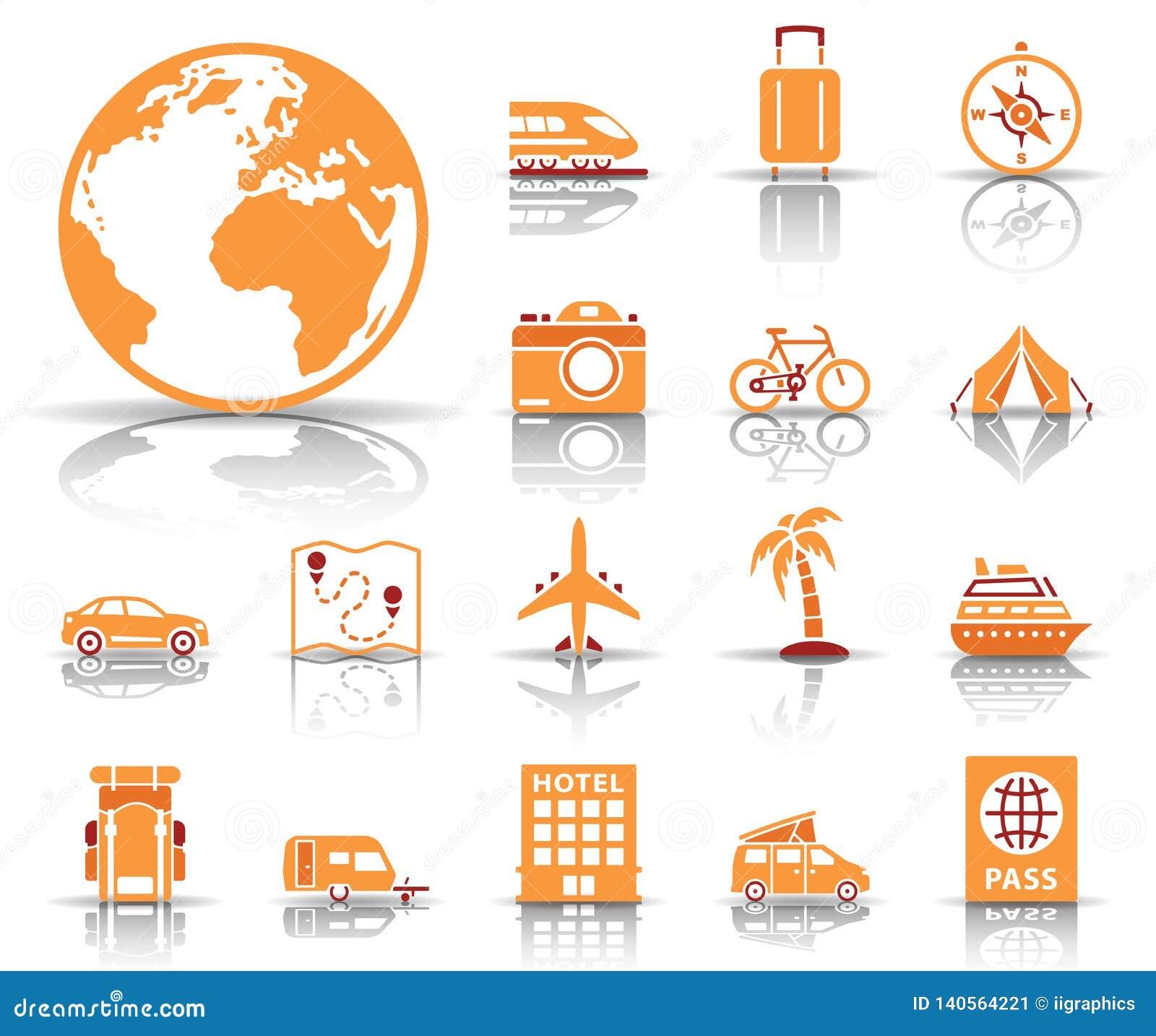 Travel and tourism icon set