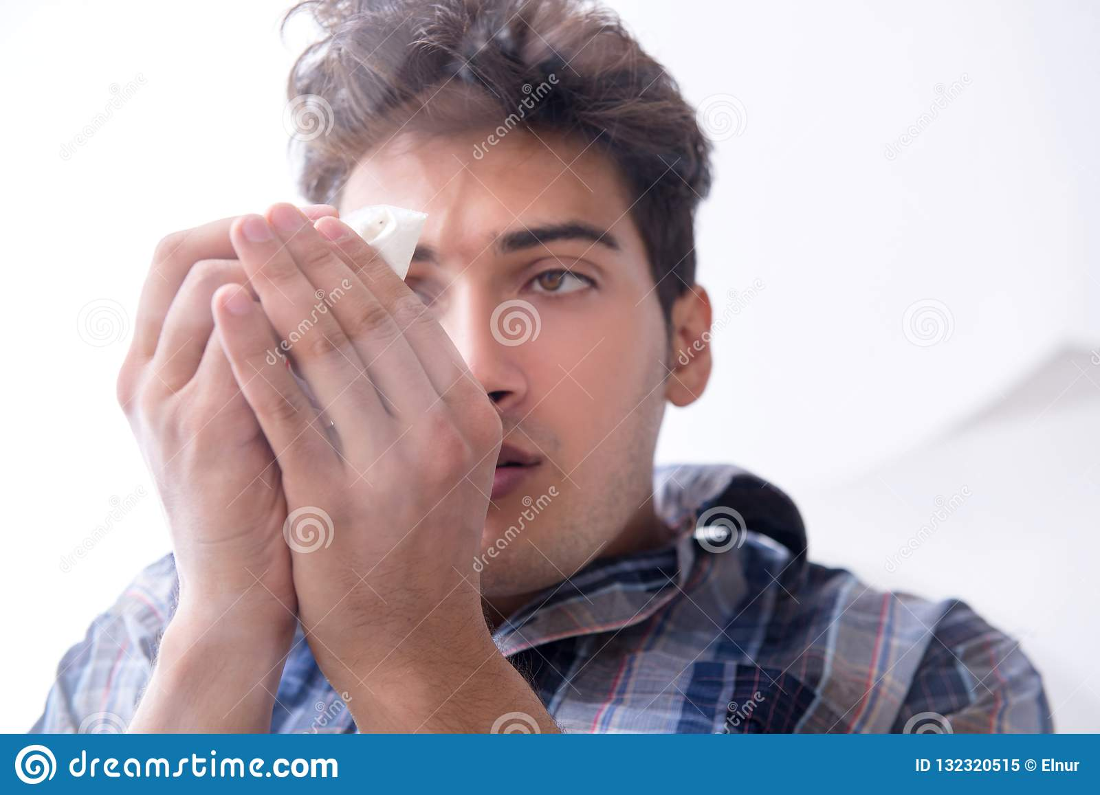 The Drug Addict Sniffing Cocaine Narcotic Stock Image - Image of