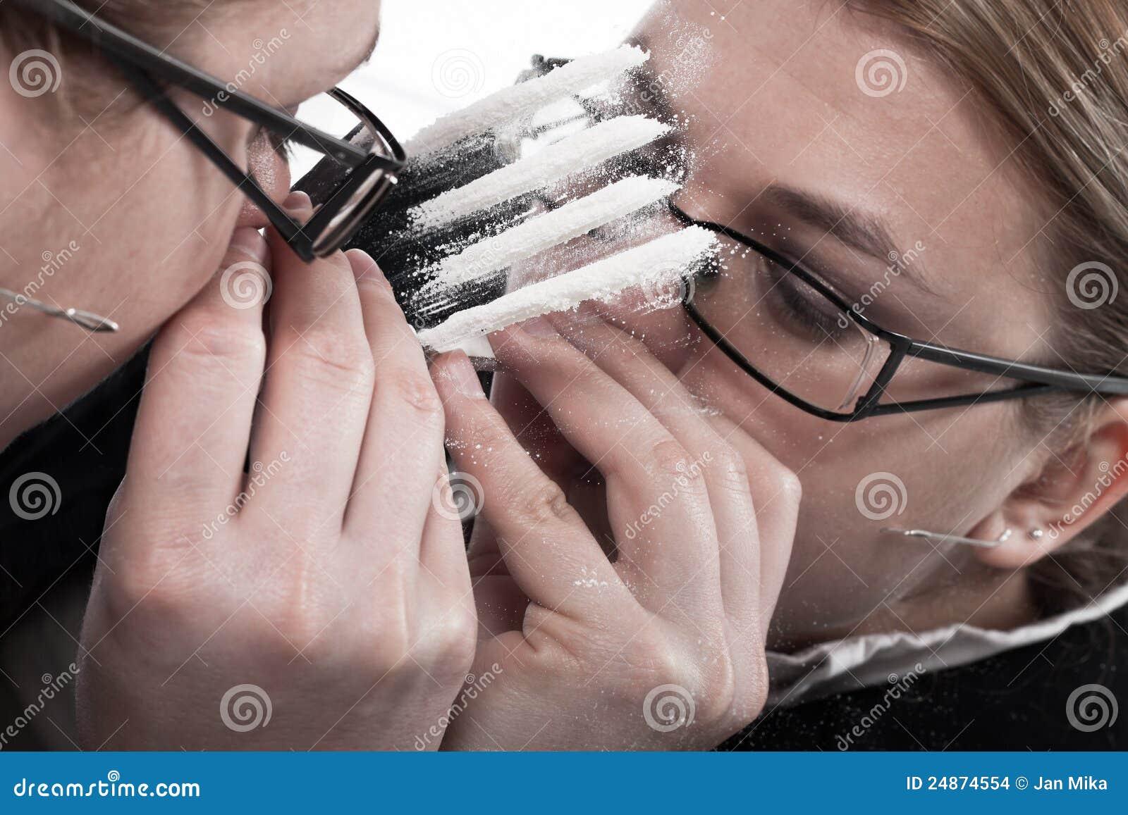 Girl snorting coke drug apologise