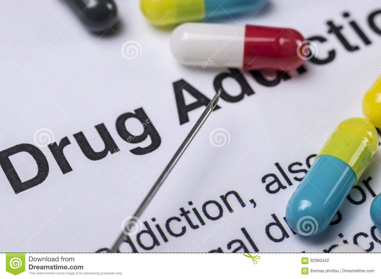 Drug addiction stock photo  Image of narcotic, hospital