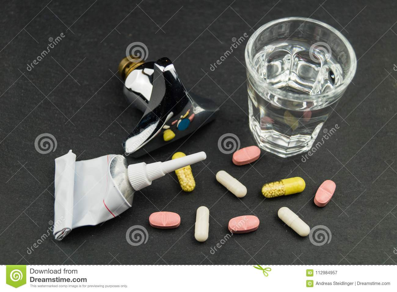 Medications residues in drinking water