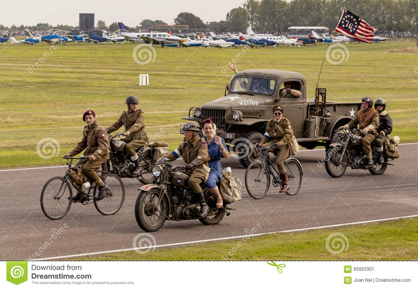 Drugiej Wojny Światowa 75th pamiątkowa parada
