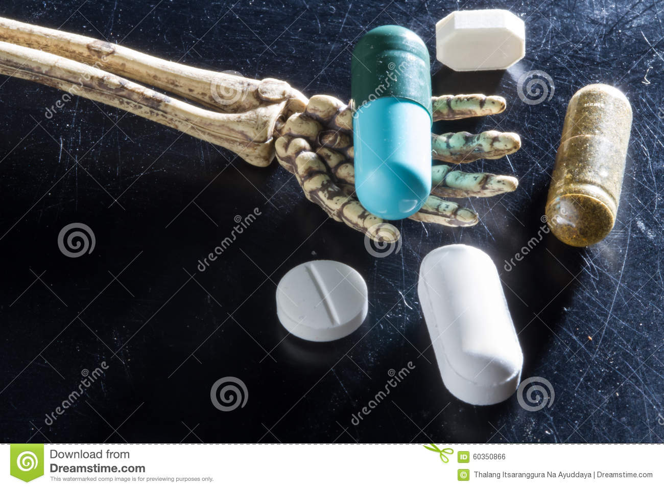 Drugs on hand bones