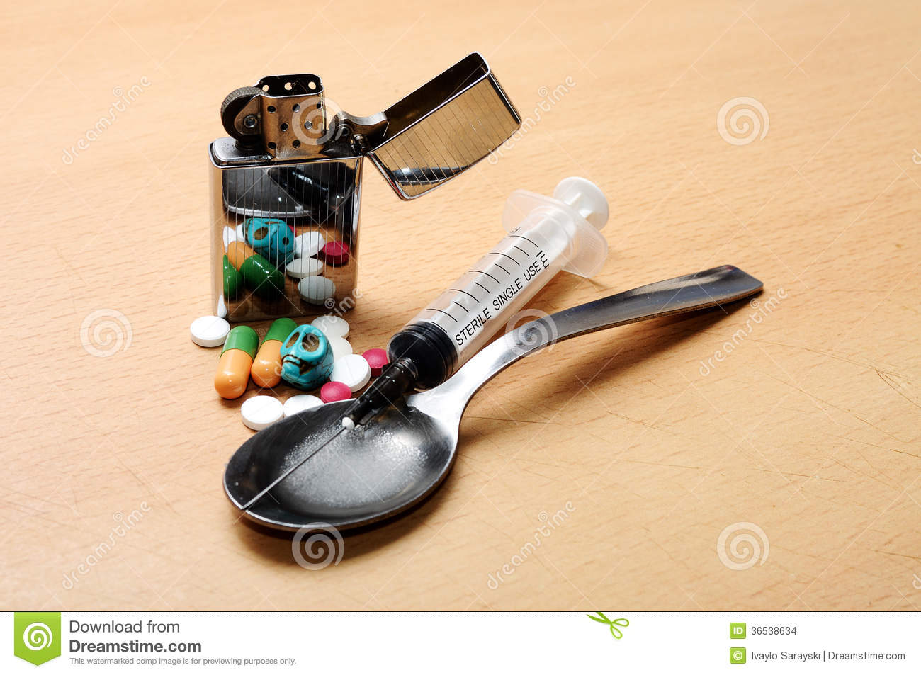 Drugs Skull Stock Photo Image Of Cocaine Criminal Needle 36538634