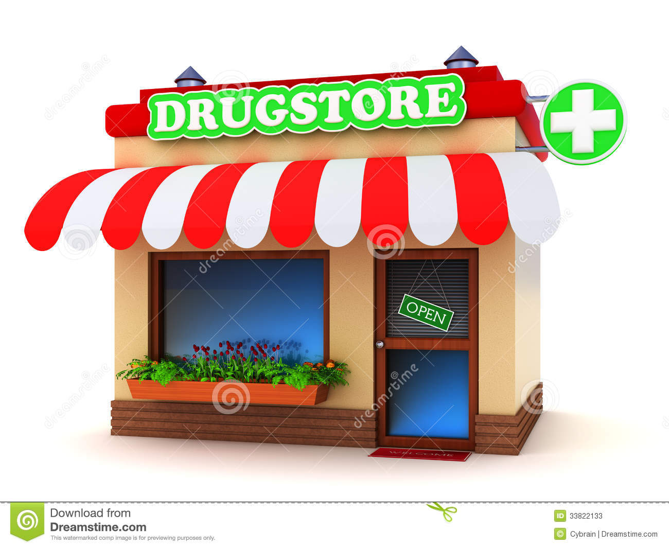 How To Design House Plans Drugstore Building Stock Illustration Illustration Of