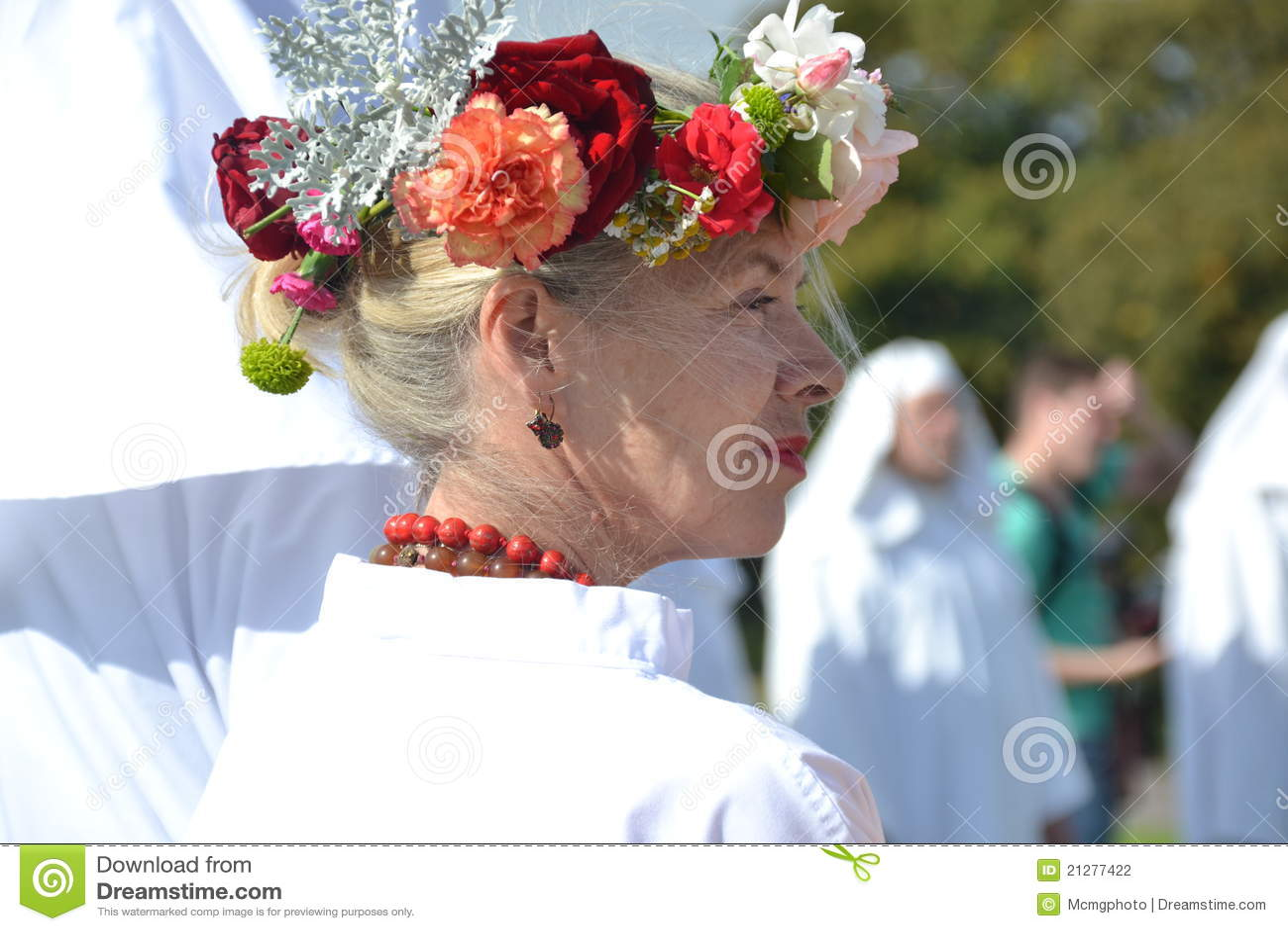 Druid woman, autum equinox
