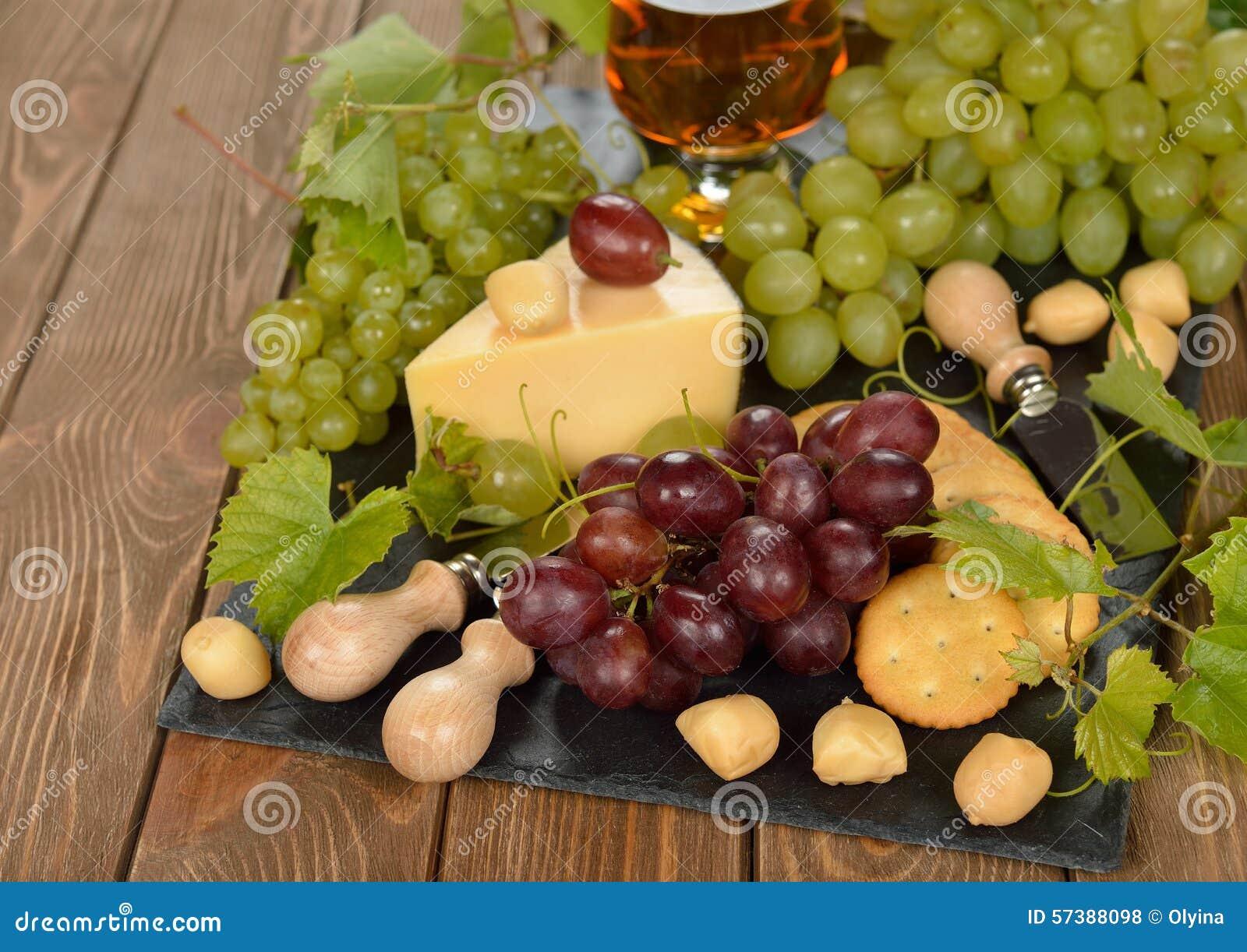 Druiven en kaas