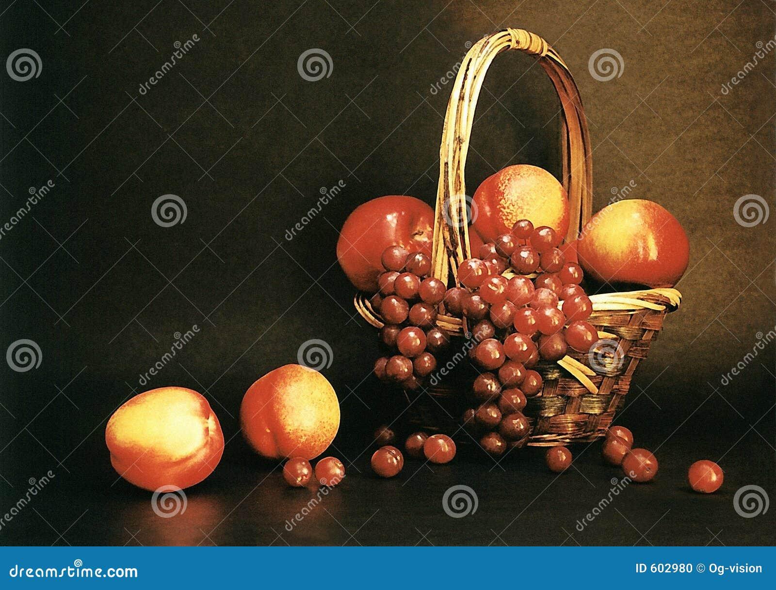 Druiven en perziken
