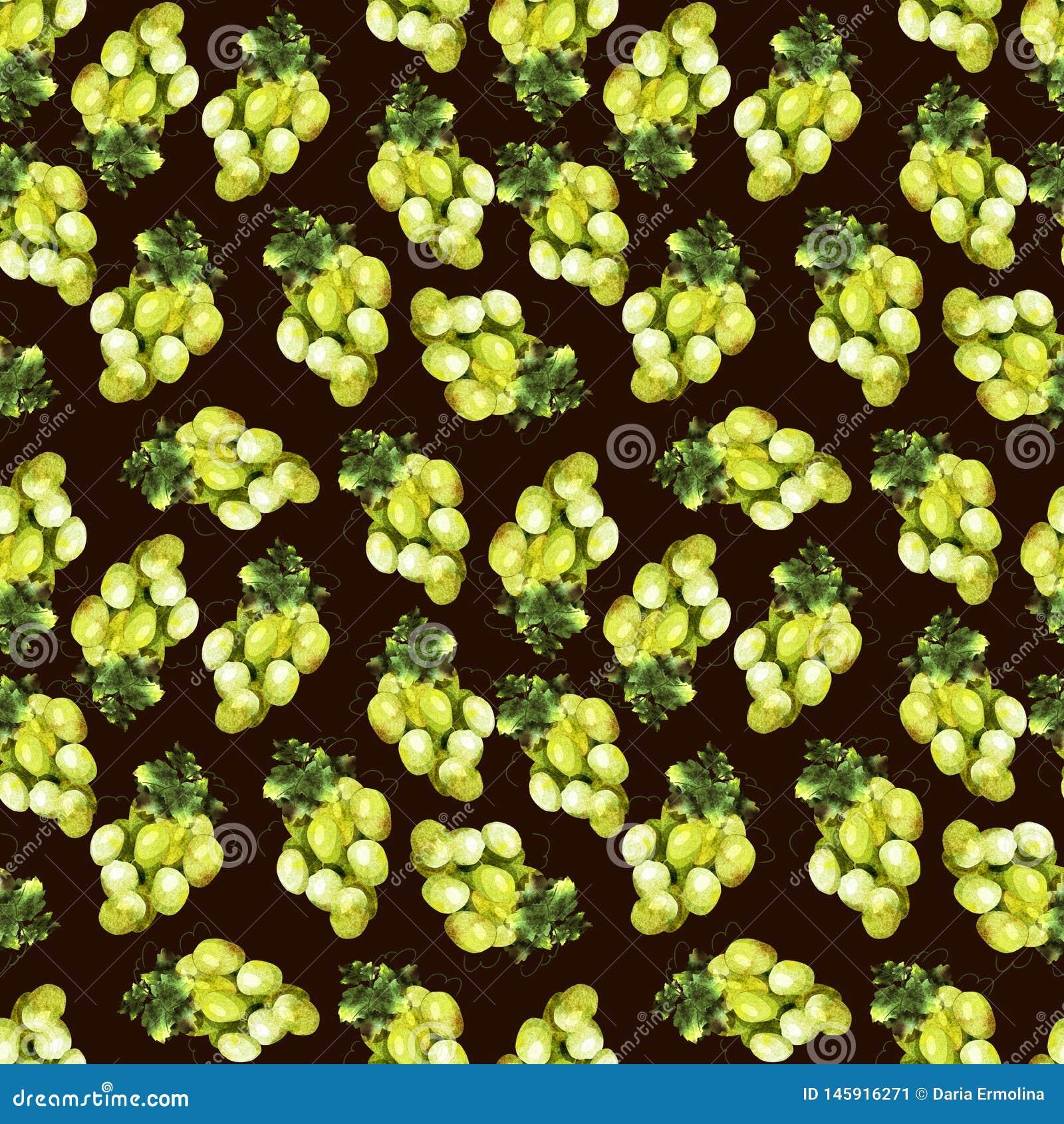 Druiven groen patroon