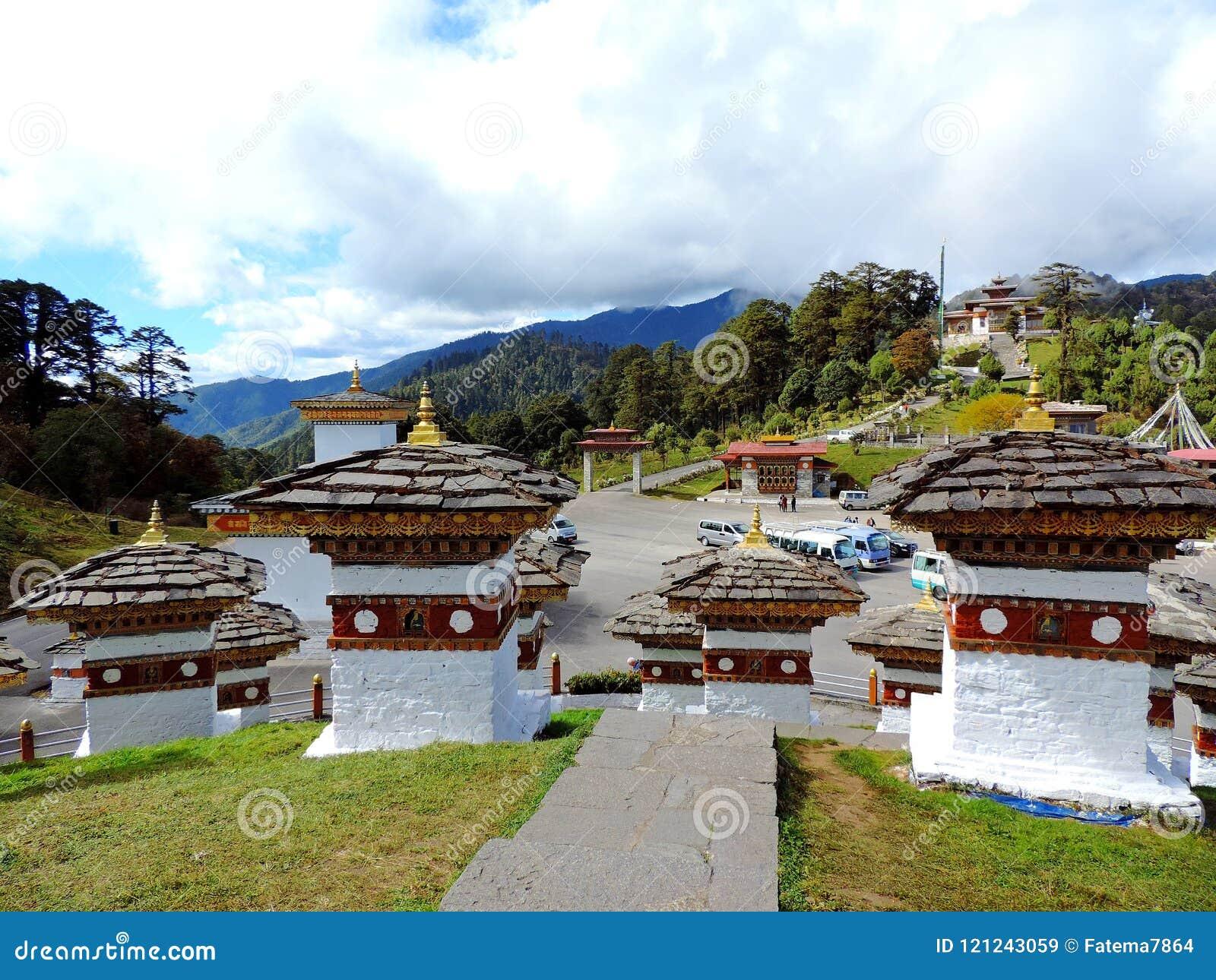 Druk Wangyal Chortens bij Dochula-Pas, Bhutan