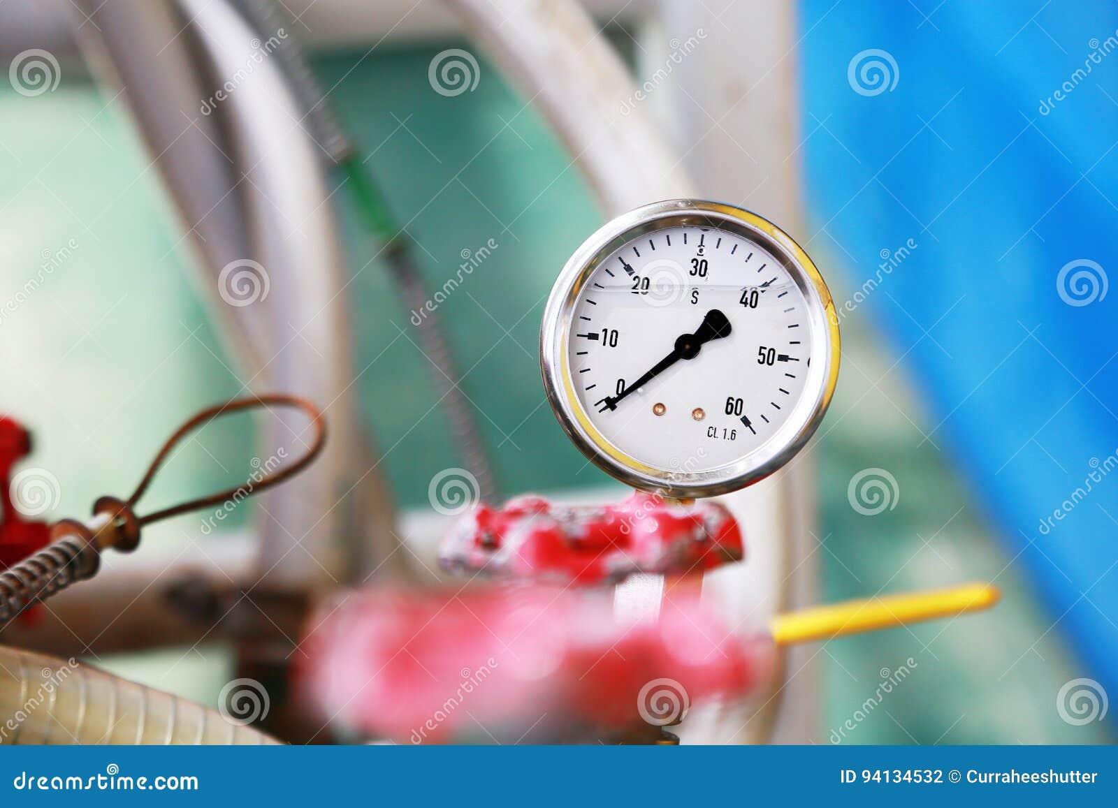 Drukmaat die maatregel gebruiken de druk in productieproces Arbeider of Exploitant van het controleolie en gas proces door de maa