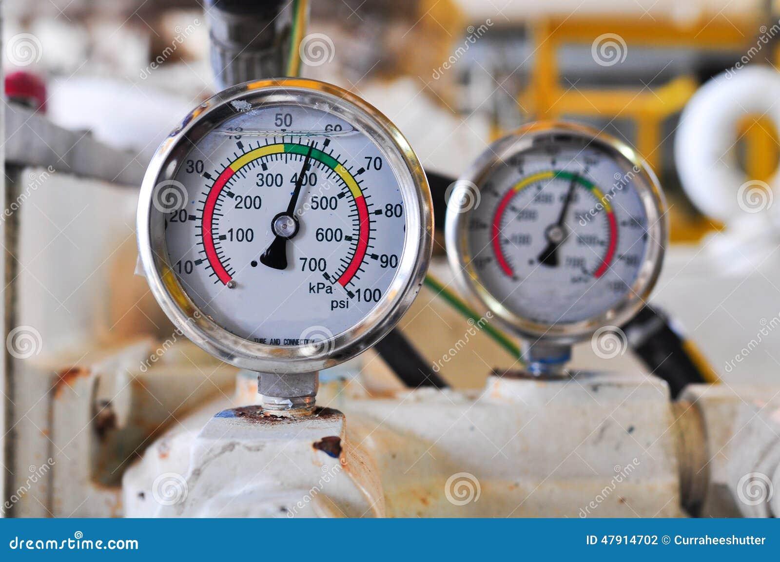 Drukmaat voor het meten van druk in het systeem,