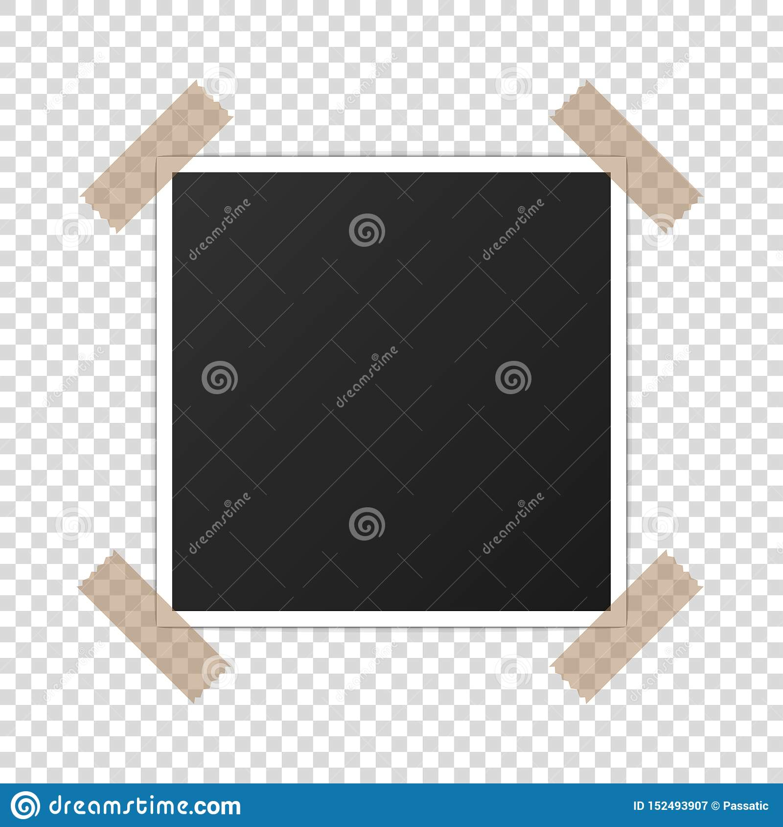 Drukowany fotografii papierowego mockup photoframe realistyczny wektor