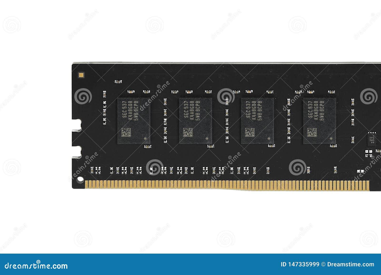 Drukowany obw?d deski PCB z, ICs i oporniki, pami?? RAM