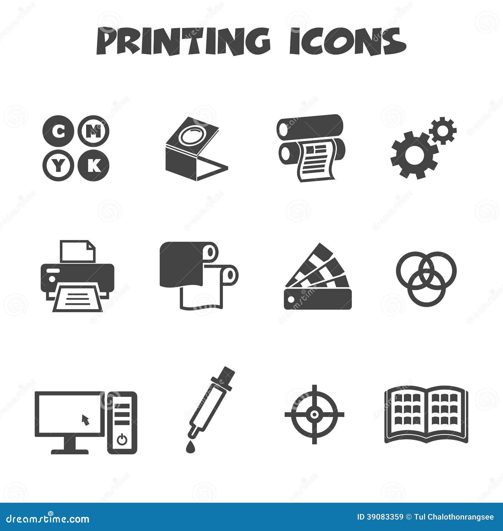 Drukowe ikony