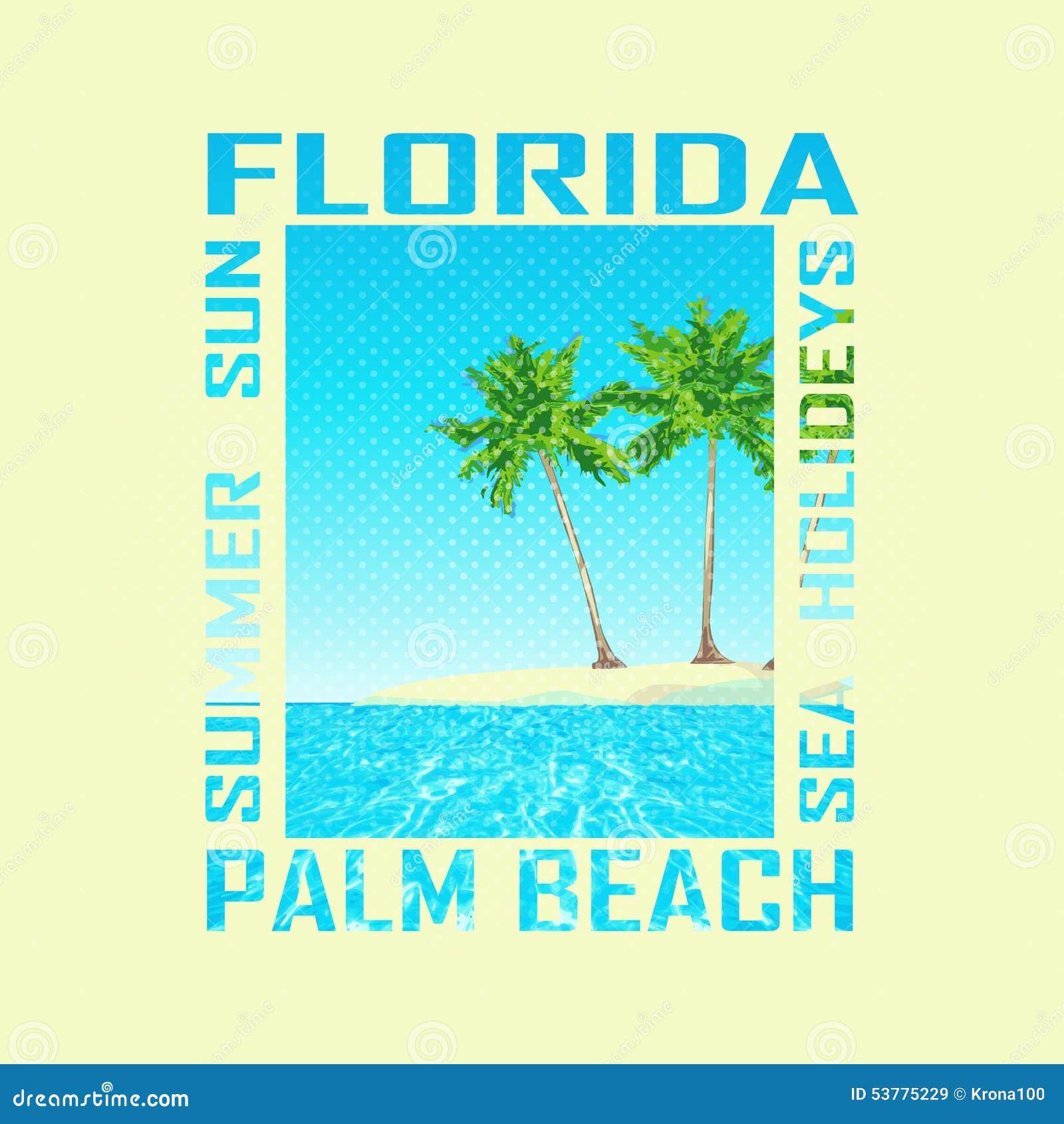 Druku tło Floryda