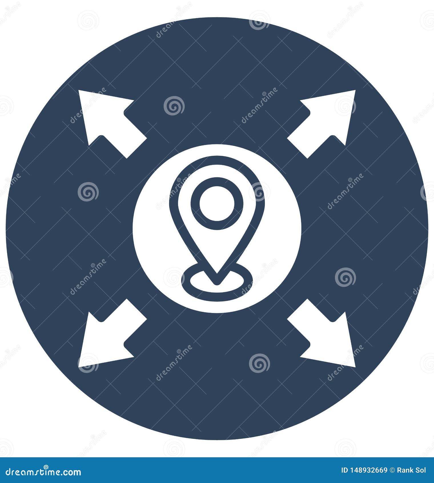 Drukuje Napędowych kierunki, Odosobniona Wektorowa ikona która może łatwo jeżdżenie kierunki, Odosobniona Wektorowa ikona która m