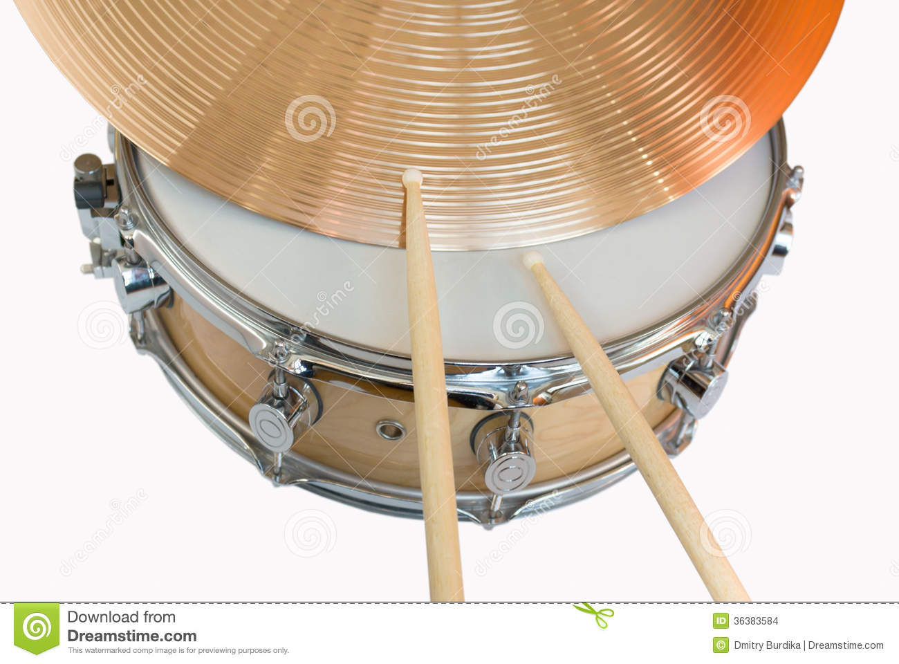 Drum and cymbal stock photo. Image of copper, brass, jazz ...