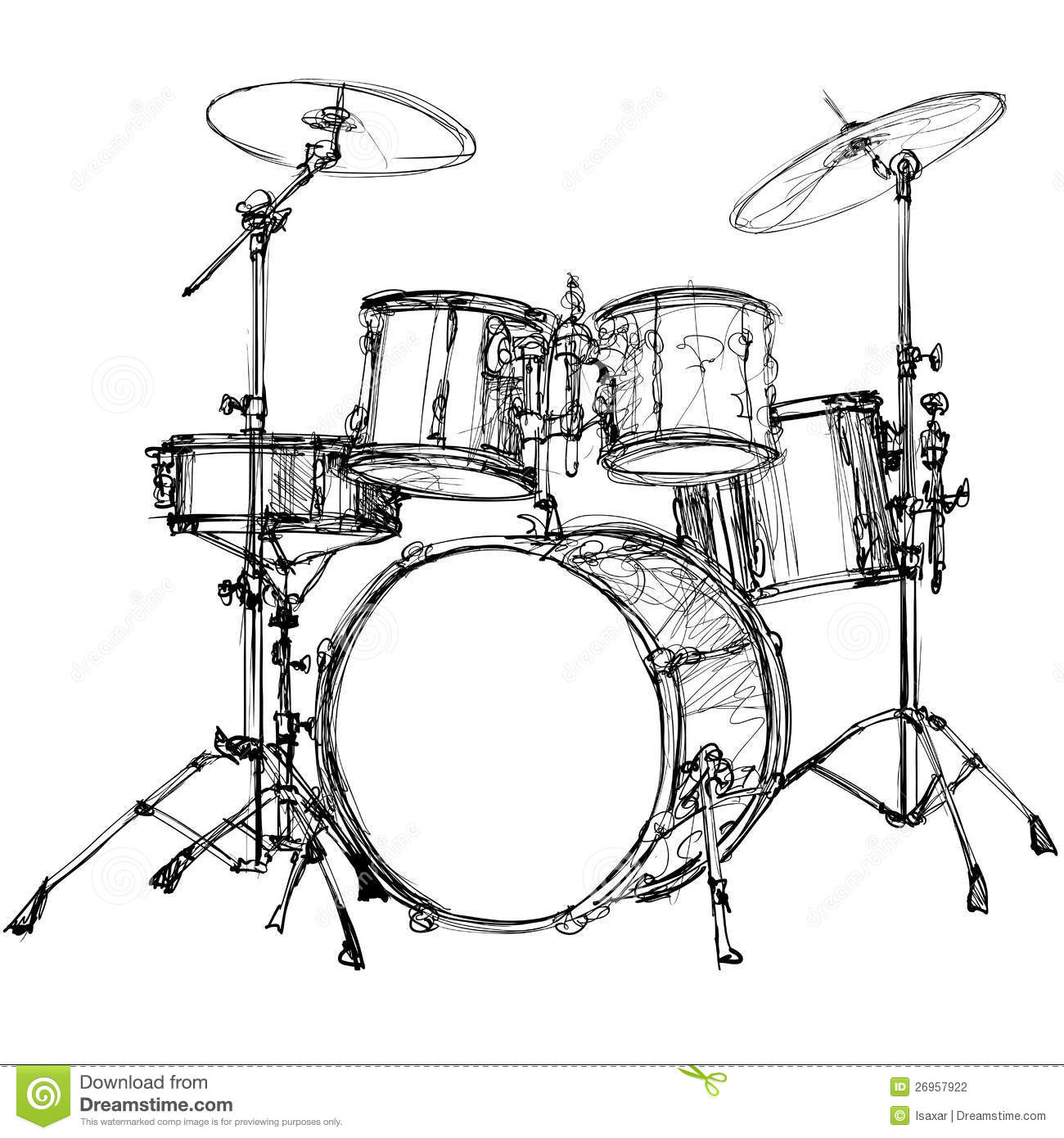 Drum Kit Stock Vector Illustration Of Musical Cymbal