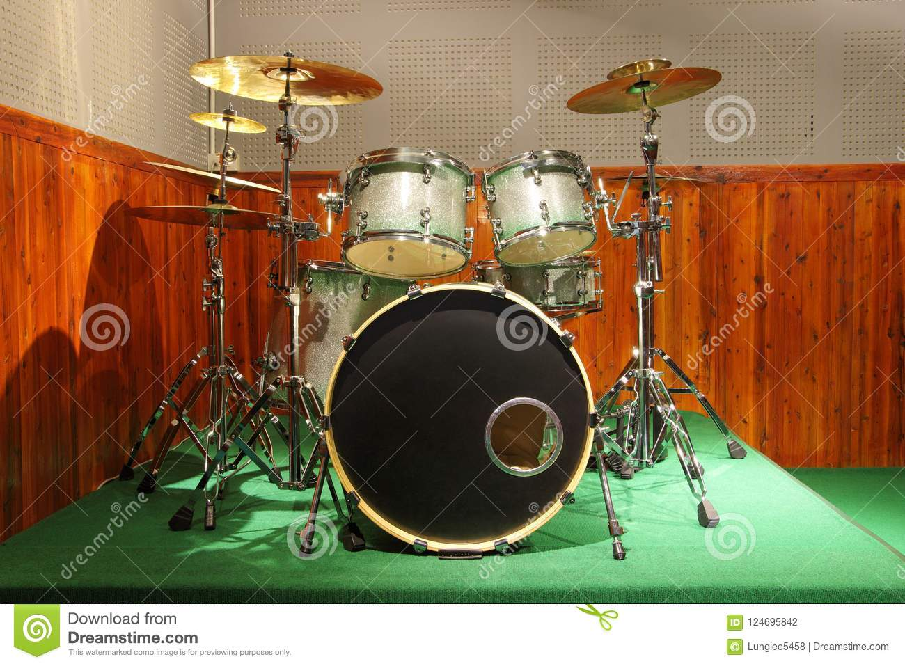 drum kit drum set stock photo image of cymbal background 124695842 rh dreamstime com  soundproof drum set room
