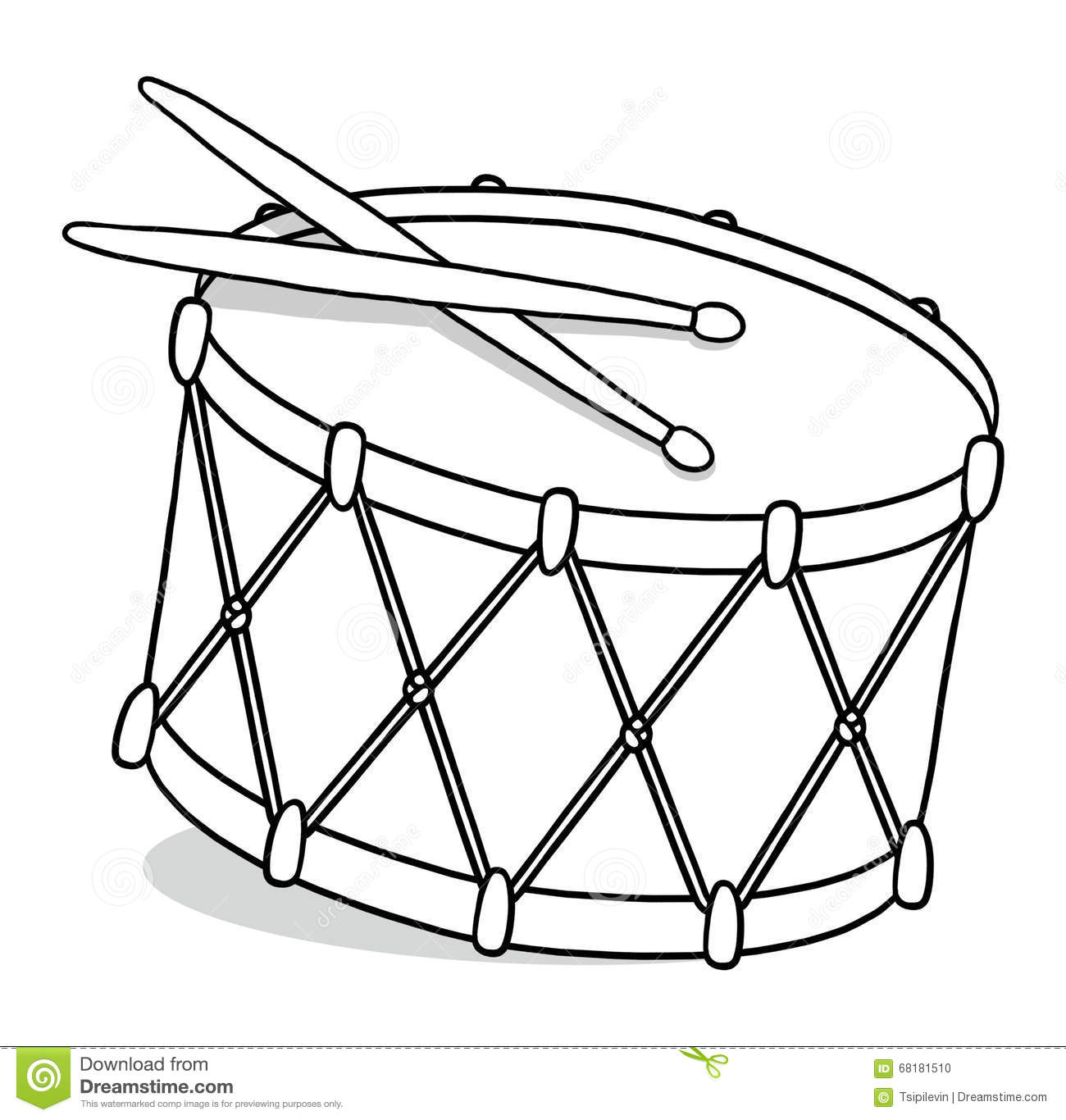 drum outline illustration stock illustration
