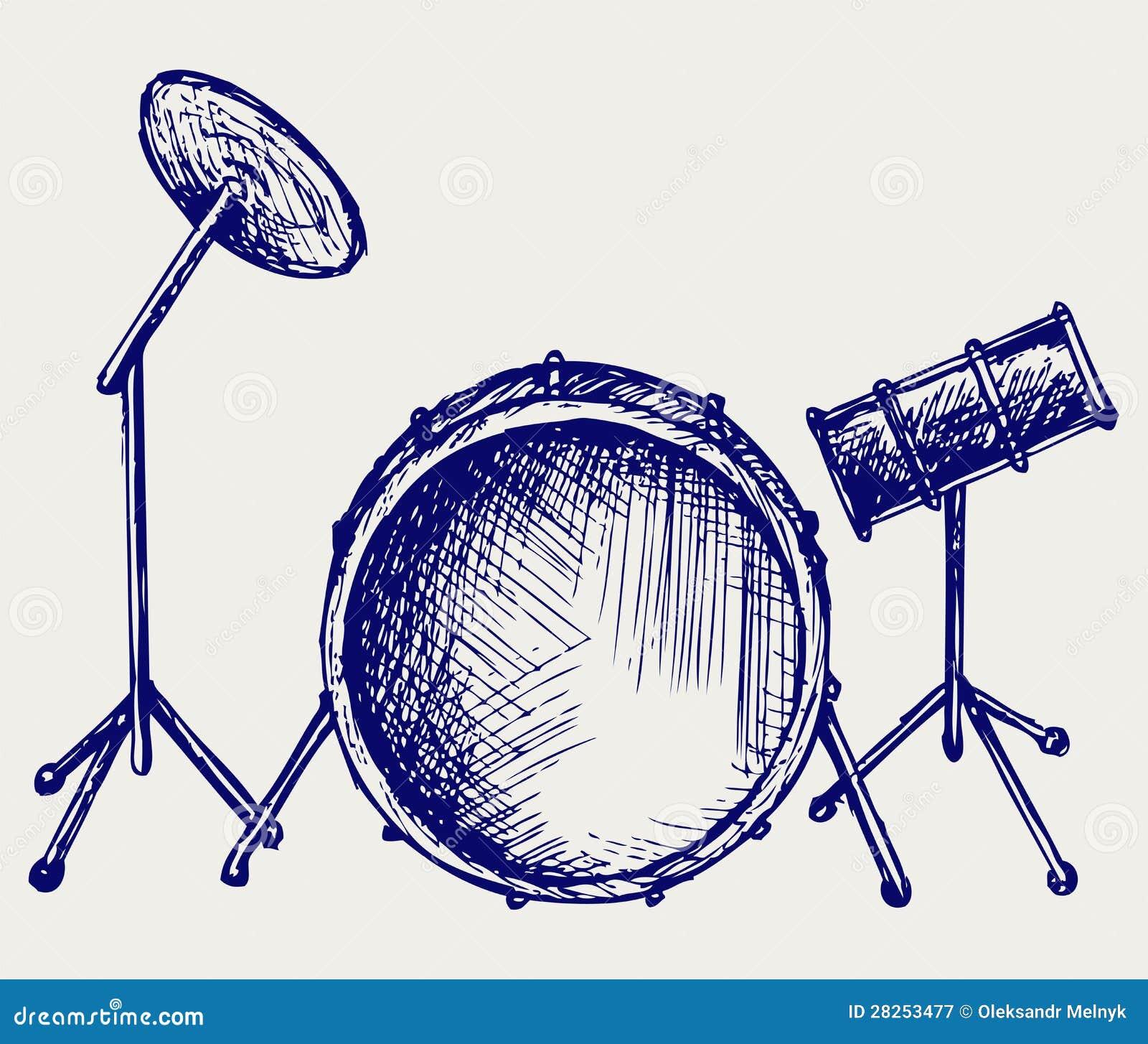 Drum Set Stock Vector Illustration Of Object Audio 28253477 Diagram