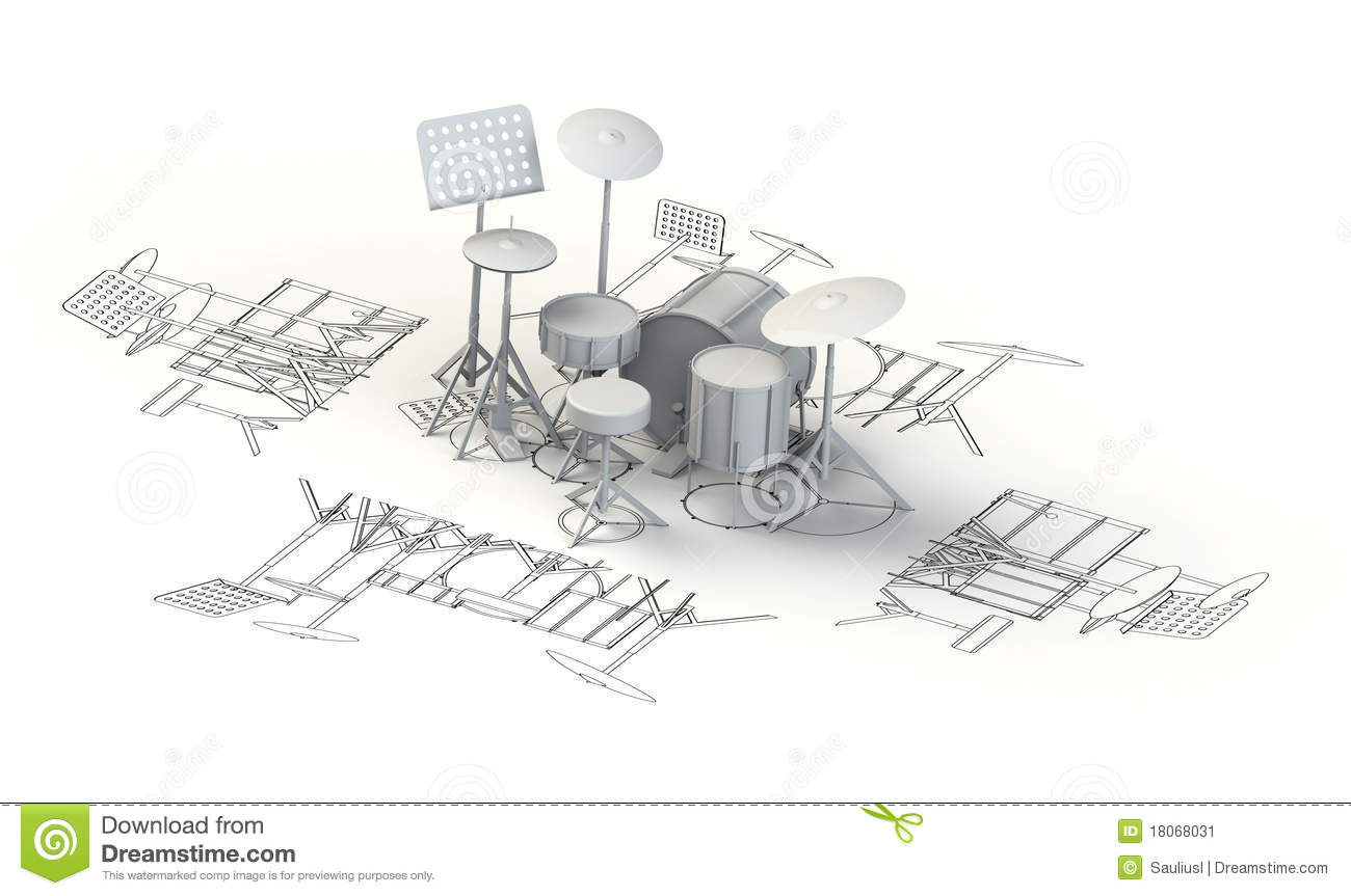 Drum Set Diagram Blueprint Search For Wiring Diagrams Charts With 3d Model Stock Illustration Of Rh Dreamstime Com Silhouette