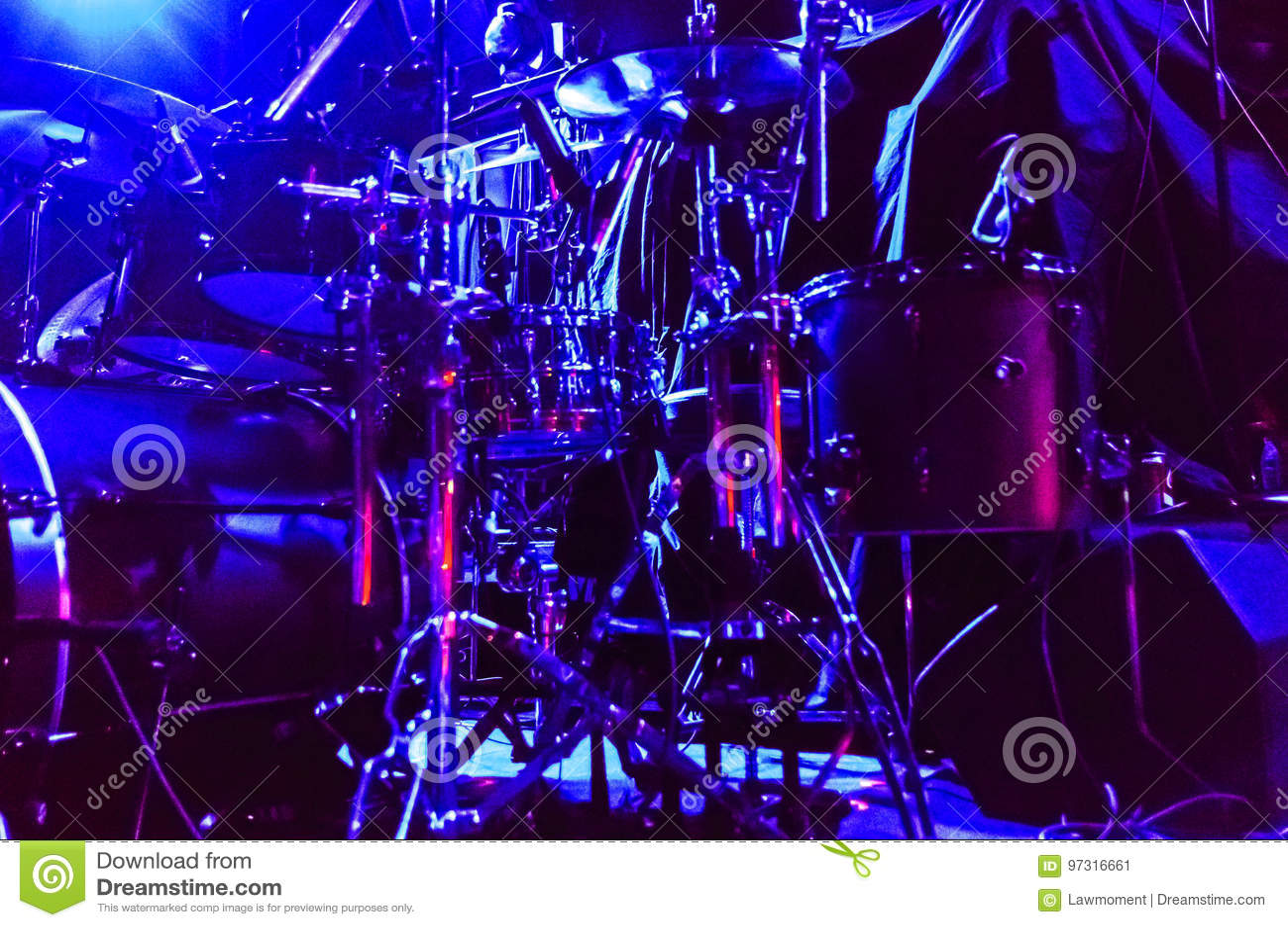Drum Set On Stage Editorial Photo Image Of Drum Sound 97316661