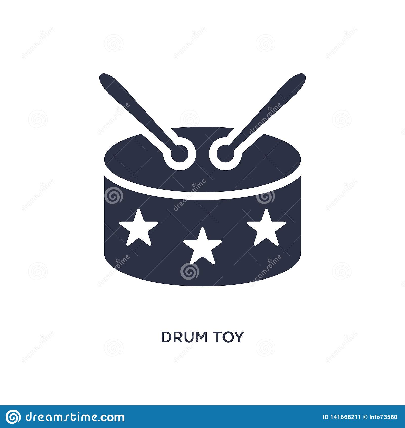 drum toy icon on white background. Simple element illustration from toys concept