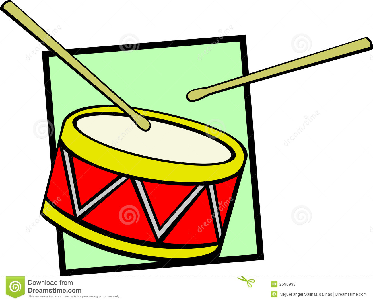 Drum Vector Illustration Stock Photos - Image: 2590933