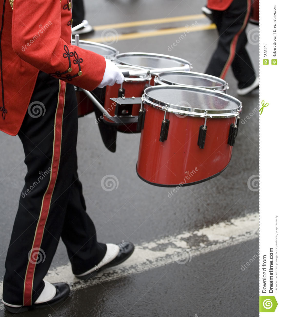 Drummer In A Marching Band Stock Images - Image: 2538494