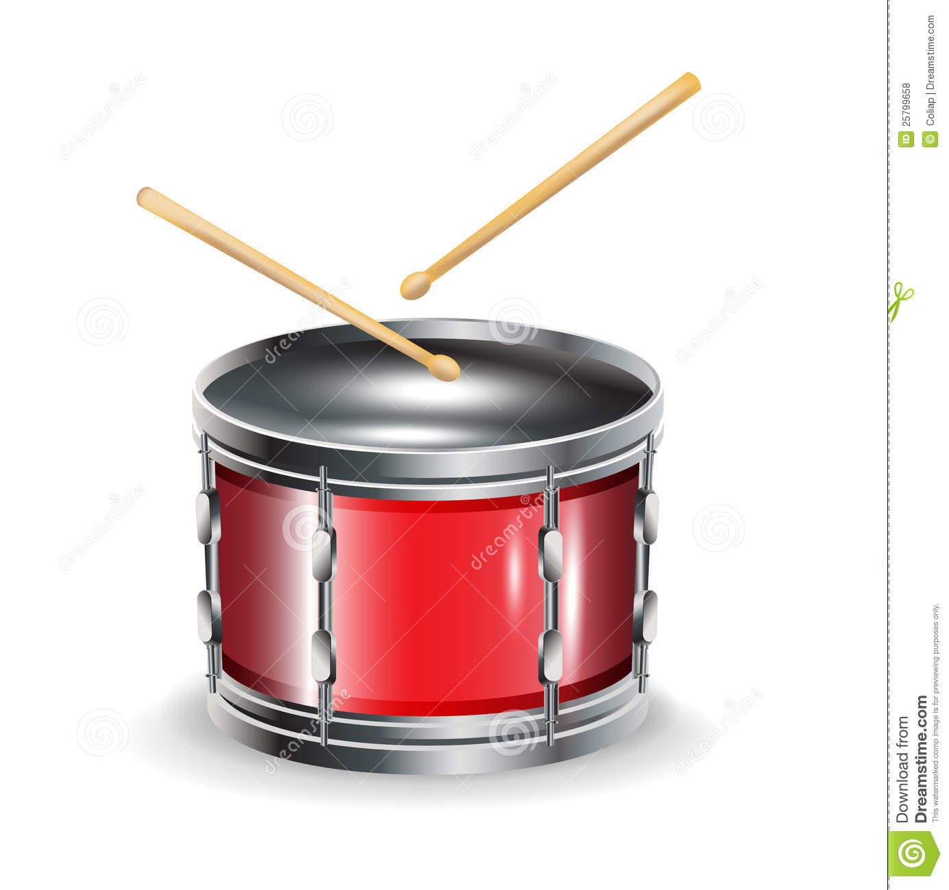 drums with sticks royalty free stock photos image 25799658