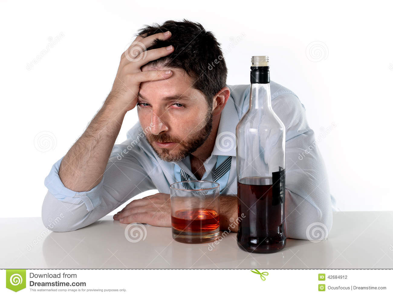 Man Drinking Alcohol Stock