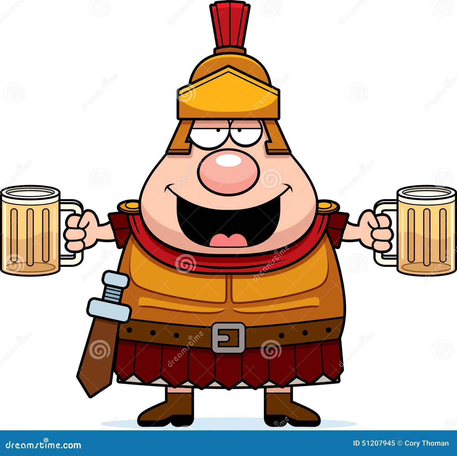 centurion roman soldier wielding sword cartoon stock illustration