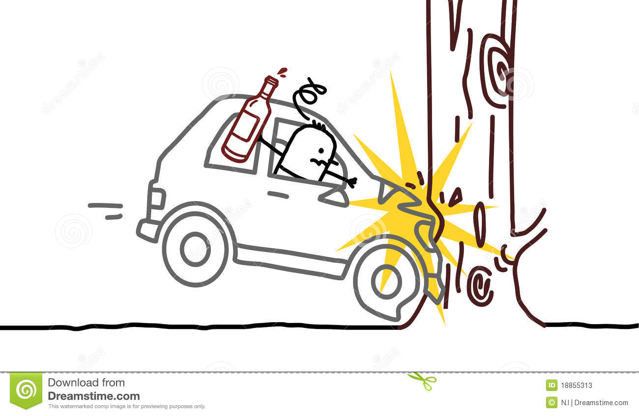 Drunk man & car crash stock vector. Illustration of drunk - 18855313