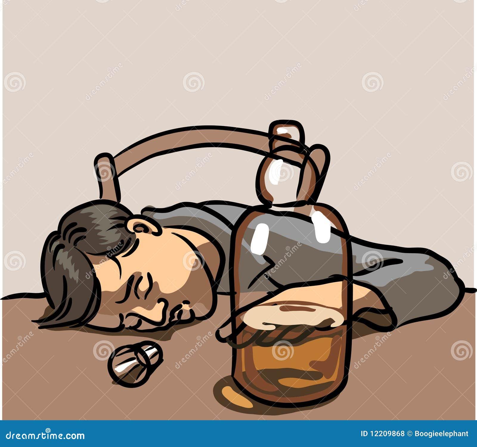 Drunk Man Sleeping Stock Vector Illustration Of Small 12209868