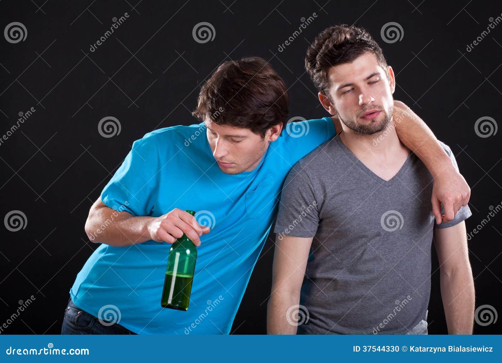 Drunk Men Friends Stock Photo Image 37544330